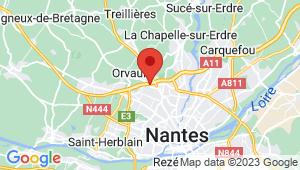 Carte de localisation du centre de contrôle technique Orvault