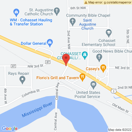 Roys Tree Spade Service on Map (Cohasset, MN 55721) Map