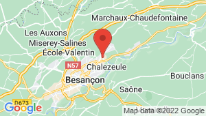 Carte de localisation du centre de contrôle technique CHALEZEULE
