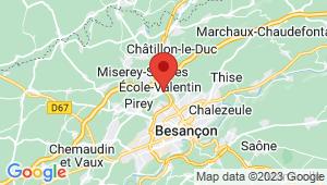Carte de localisation du centre de contrôle technique ECOLE VALENTIN