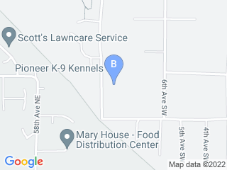 Map of Pioneer K9 Kennels Dog Boarding options in Federal Way | Boarding