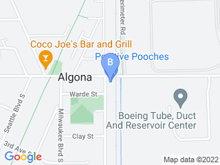 Map of Positive Pooches Dog Daycare Dog Boarding options in Algona | Boarding