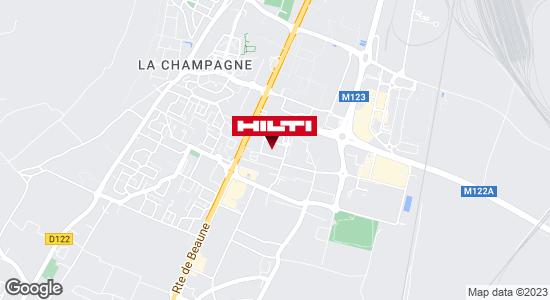 Get directions to Espace Hilti - La Plateforme du Bâtiment - Dijon