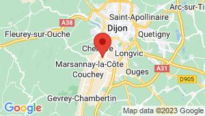 Carte de localisation du centre de contrôle technique MARSANNAY LA COTE