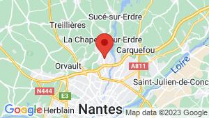 Carte de localisation du centre de contrôle technique LA CHAPELLE SUR ERDRE
