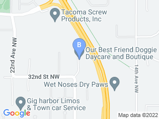 Map of Our Best Friend Dog Boarding options in Gig Harbor | Boarding