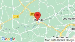 Carte de localisation du centre de contrôle technique MARNAY