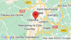 Carte de localisation du centre de contrôle technique CHENOVE