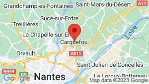 Carte de localisation du centre de contrôle technique CARQUEFOU