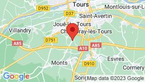 Carte de localisation du centre de contrôle technique JOUE LES TOURS