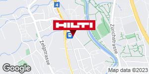 Wegbeschreibung zu Hilti Store Adliswil