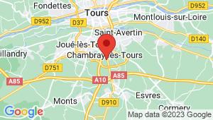 Carte de localisation du centre de contrôle technique CHAMBRAY LES TOURS