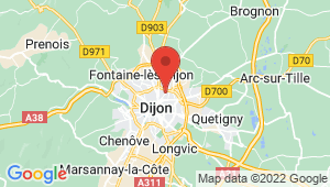 Carte de localisation du centre de contrôle technique DIJON