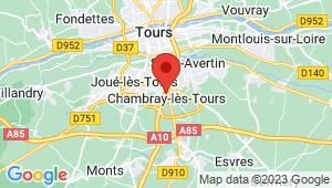 Carte de localisation du centre de contrôle technique Chambray-lès-Tours