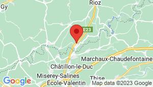 Carte de localisation du centre de contrôle technique VORAY SUR L'OGNON