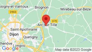 Carte de localisation du centre de contrôle technique ARC SUR TILLE
