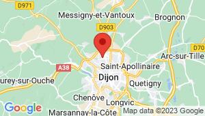 Carte de localisation du centre de contrôle technique FONTAINE LES DIJON