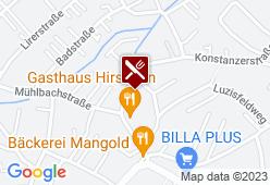 Gasthaus Hirschen - Karte
