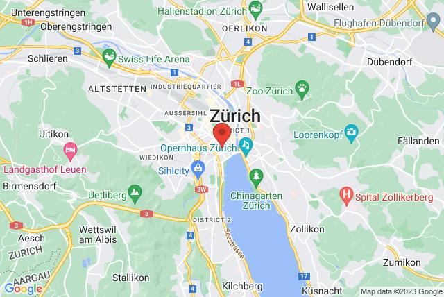 Zurich Body Line Pilates Map