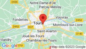 Carte de localisation du centre de contrôle technique SAINT PIERRE DES CORPS