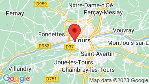 Carte de localisation du centre de contrôle technique LA RICHE