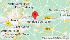 Carte de localisation du centre de contrôle technique MONTLOUIS SUR LOIRE