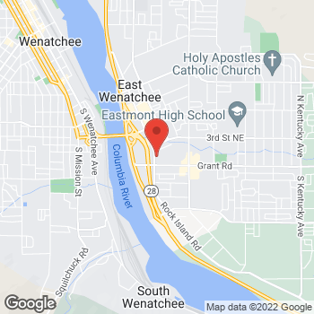 Map of Arby's at 179 Valley Mall Pkwy, East Wenatchee, WA 98802-5307