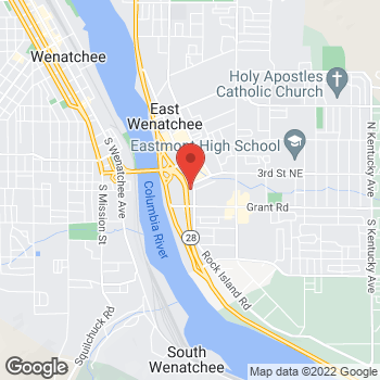 Map of Verizon Authorized Retailer, TCC at 280 Valley Mall Parkway, East Wenatchee, WA 98802
