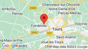 Carte de localisation du centre de contrôle technique FONDETTES