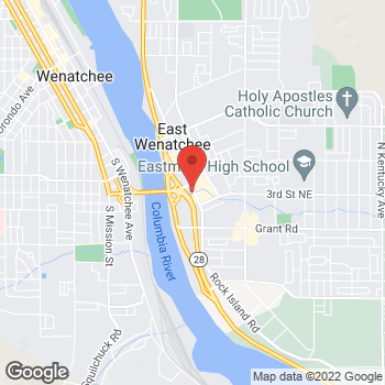 Map of Taco Bell at 410 Valley Mall Parkway, East Wenatchee, WA 98802