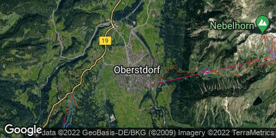 Google Map of Oberstdorf