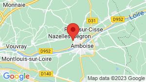 Carte de localisation du centre de contrôle technique NAZELLES NEGRON