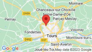 Carte de localisation du centre de contrôle technique Saint Cyr sur Loire