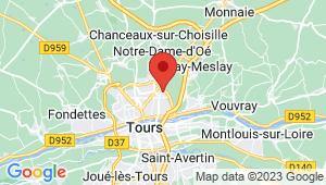 Carte de localisation du centre de contrôle technique Tours