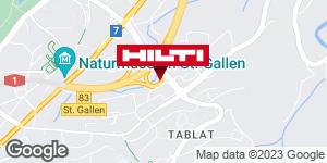 Wegbeschreibung zu Hilti Store St. Gallen