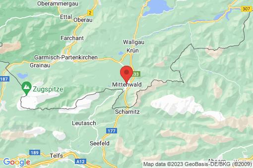 Karte Mittenwald