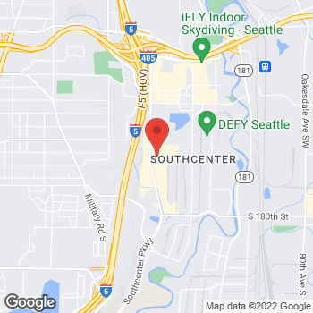 Map of Panera Bread at 17250 Southcenter Pkwy, Tukwila, WA 98188
