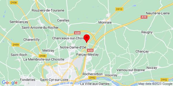 Google Map of 47.4641497,0.74037551879883