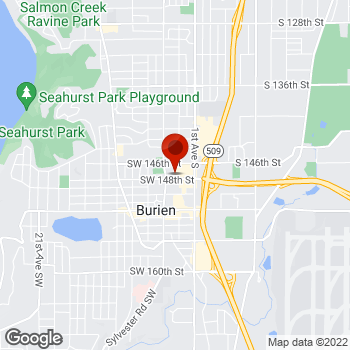 Map of Staples® Print & Marketing Services at 158 SW 148th Street, Burien, WA 98166