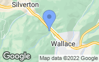 Map of Wallace, ID