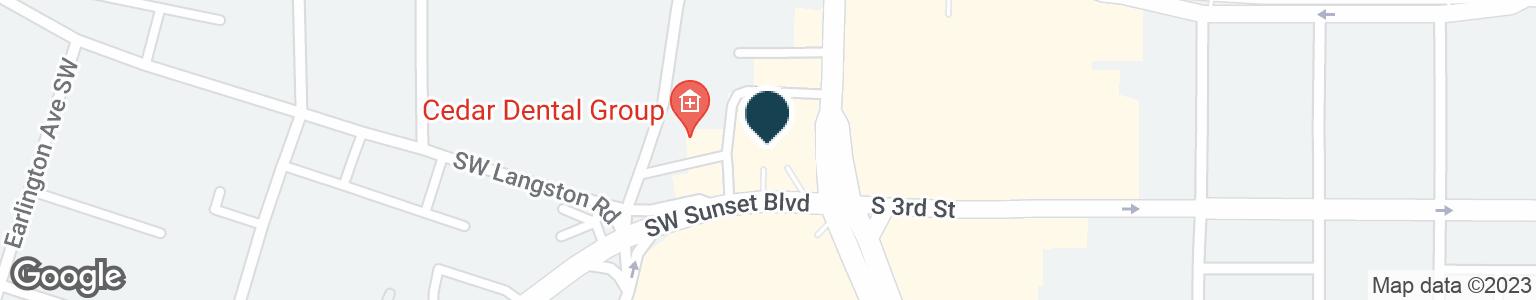 Google Map of275 RAINIER AVE S