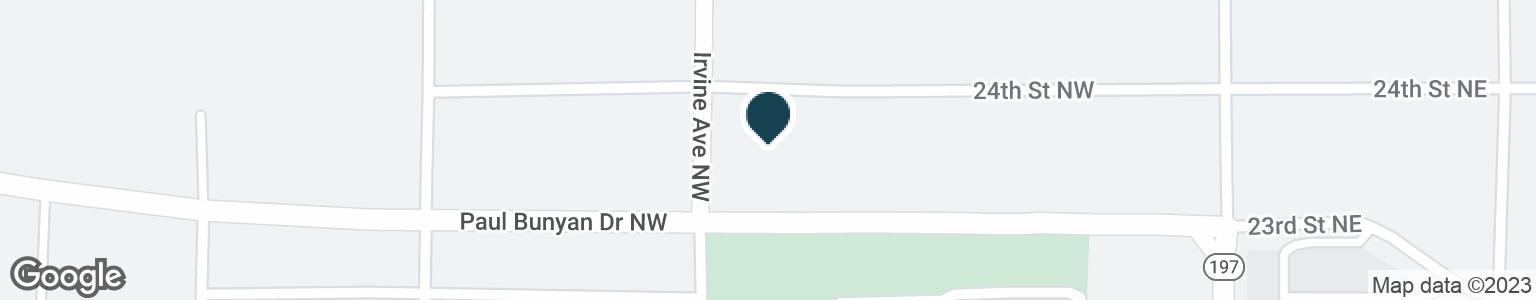 Google Map of421 PAUL BUNYAN DR NW