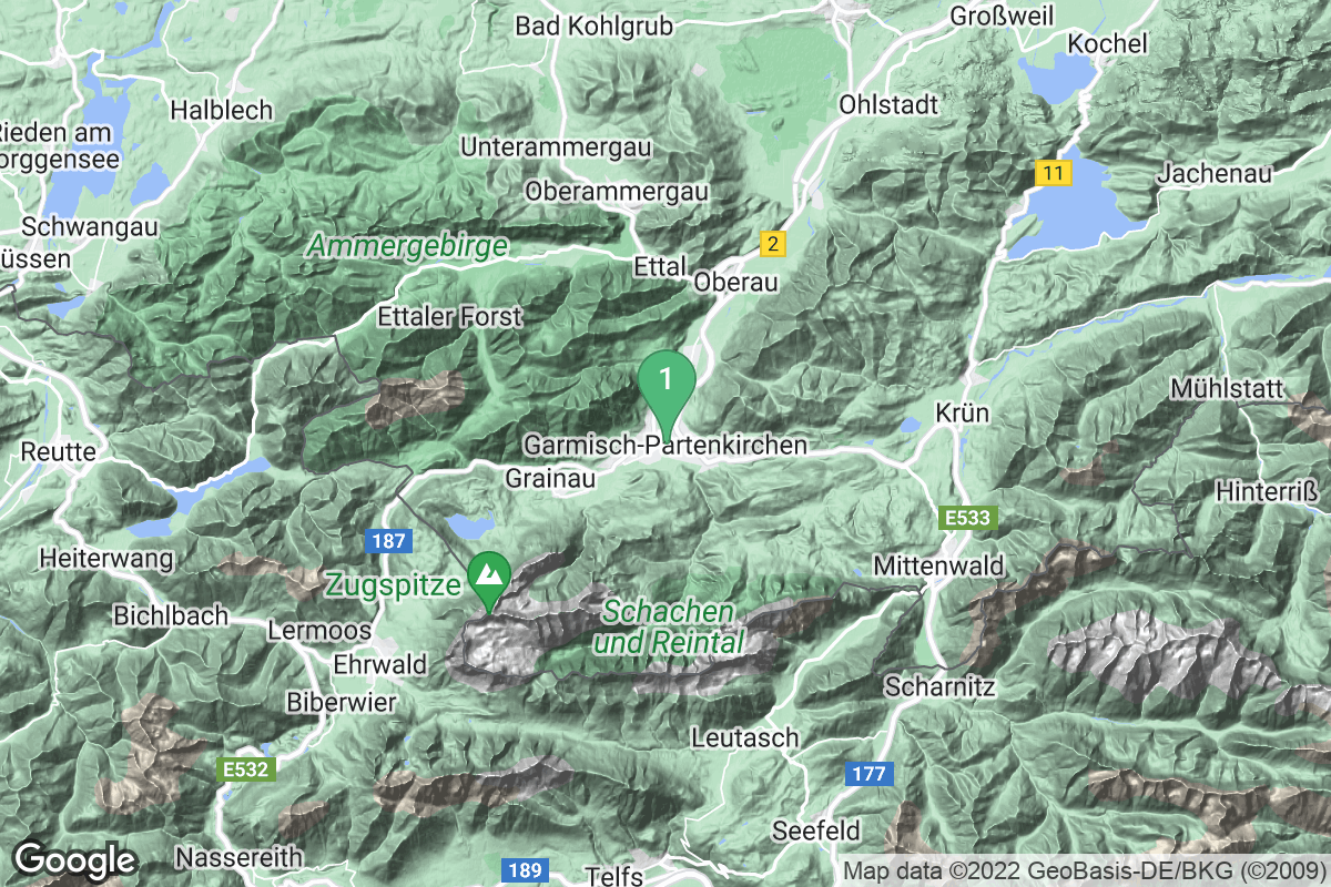 Google Map of Garmisch-Partenkirchen