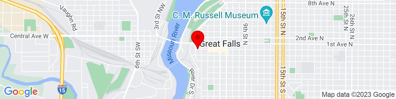 Google Map of 47.5053047, -111.3053106