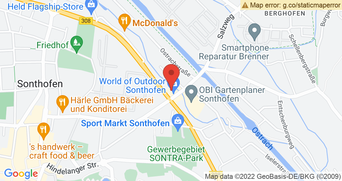 Google Map World of Outdoor GmbH