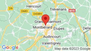 Carte de localisation du centre de contrôle technique MONTBELIARD