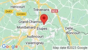 Carte de localisation du centre de contrôle technique ETUPES