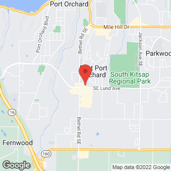 Map of Staples at 1805 SE Lund Ave, Port Orchard, WA 98366