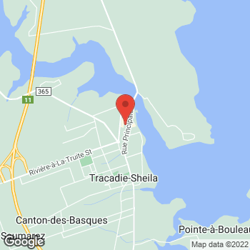 Map of Tim Hortons at 3425 Principale St, Tracadie-sheila, NB E1X 1G5