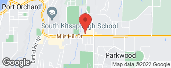 Map of 3001 SE Mile Hill Dr in Port Orchard